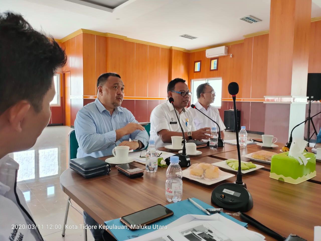 TKPRD dan Pemkab Halsel Bahas Tata Ruang  dan Aturan Zonasi Perkotaan di Dinas PUPR Malut