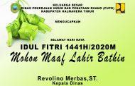 Keluarga Besar Dinas PUPR Halmahera Timur Mengucapkan Selamat Hari Raya Idul Fitri 1441H
