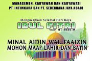 Management Karyawan Karyawati PT. Intimkara dan PT. Sederhana Jaya Abadi Mengucapkan Selamat Hari Raya Idul Fitri 1441H