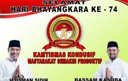 Haji Usman Sidik dan Bassam Kasuba Mengucapkan Selamat Hari Bhayangkara ke-74