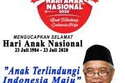 Keluarga Besar Dinas PERKIM Maluku Utara Mengucapkan Selamat Hari Anak Nasional Tahun 2020