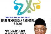 Keluarga Besar Dinas Perkim Maluku Utara Mengucapkan Selamat Hari Pendidikan Nasional Tahun 2020
