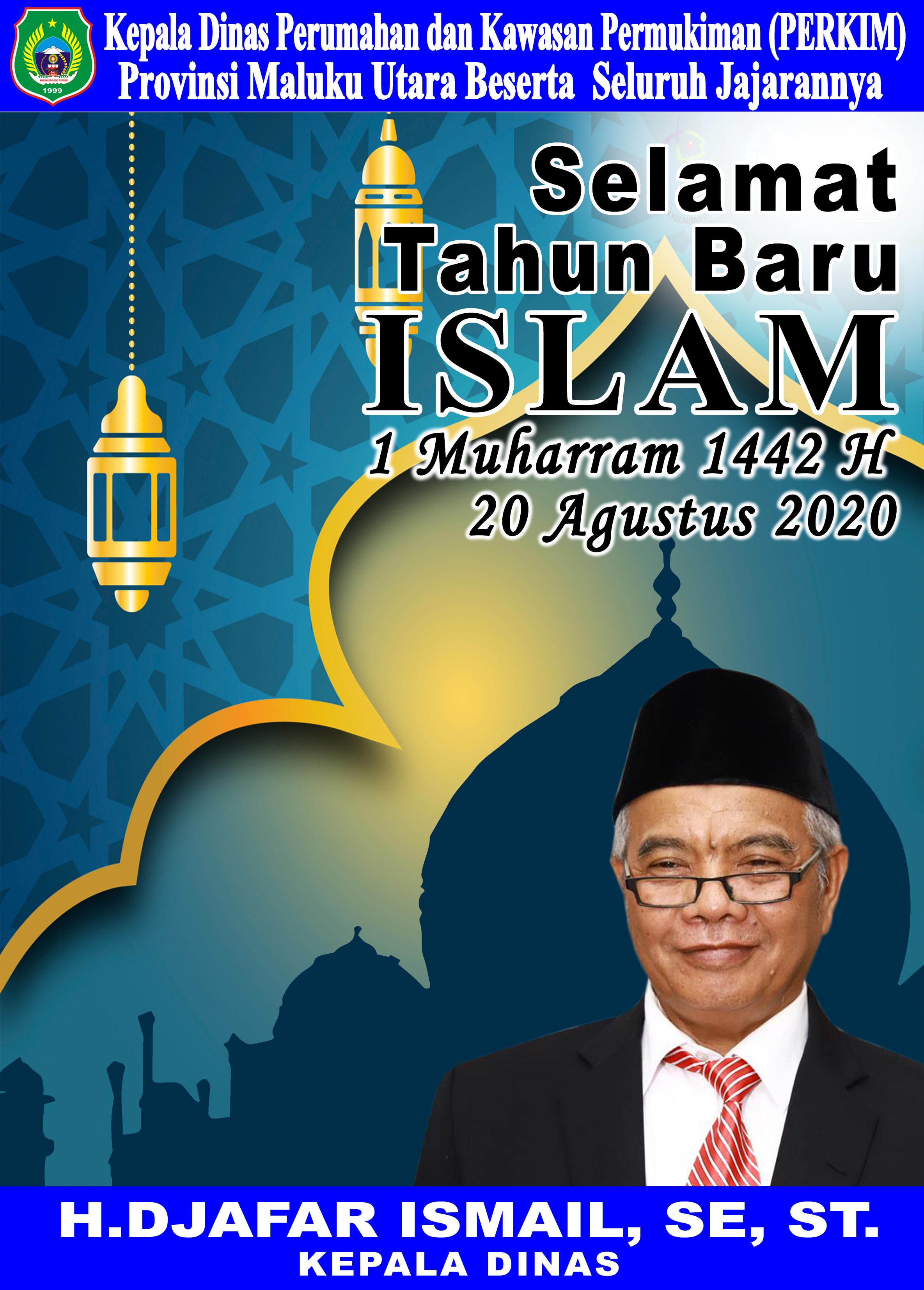 Keluarga Besar Dinas PERKIM Maluku Utara Mengucapkan Selamat Tahun Baru Islam 1442 Hijriyyah