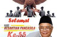 Kadis Perkim Maluku Utara Beserta Seluruh Jajarannya Mengucapkan Selamat Memperingati Hari Kesaktian Pancasila