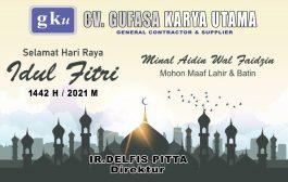 BERITA IKLAN : Direktur CV.Gufasa Karya Utama Mengucapkan Selamat Hari Raya Idul Fitri 1442H/2021M