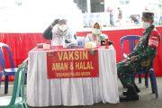 Bupati Bogor Tinjau Vaksinasi Serentak di Wilayah Polres Setempat